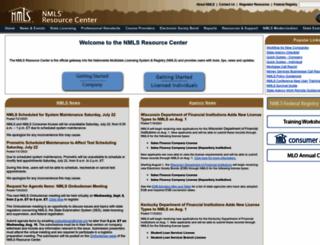 nationwidelicensingsystem.org screenshot