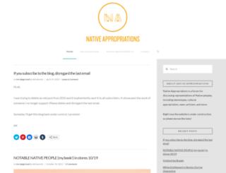 nativeappropriations.blogspot.com screenshot