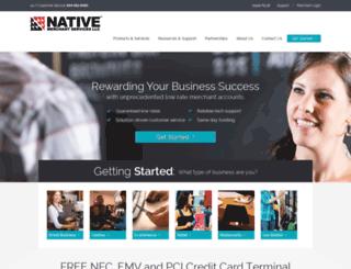 nativemerchantservices.com screenshot