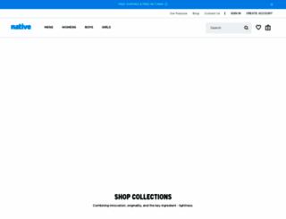 nativeshoes.com screenshot