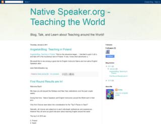 nativespeakerblog.blogspot.com screenshot
