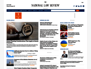 natlawreview.com screenshot