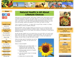 natural-health-cafe.org screenshot