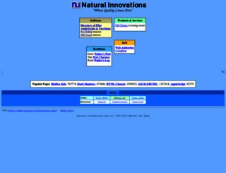 natural-innovations.com screenshot
