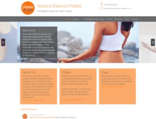 naturalbalancepilates.co.uk screenshot
