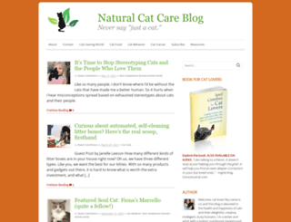 naturalcatcareblog.com screenshot