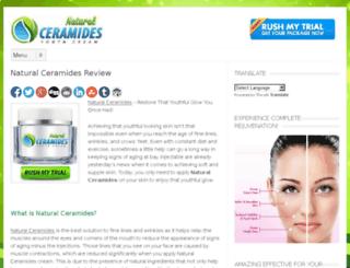 naturalceramides.org screenshot