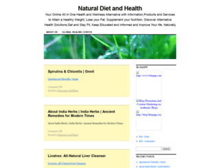 naturaldietandhealth.com screenshot