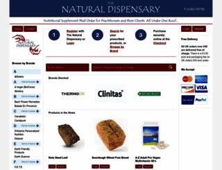 naturaldispensary.co.uk screenshot
