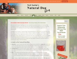 naturaldogblog.com screenshot