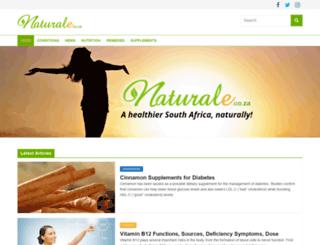 naturale.co.za screenshot