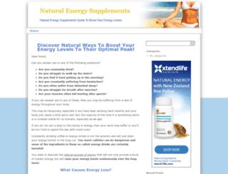 naturalenergysupplements.org screenshot