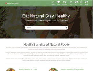 naturalfoodbenefits.com screenshot