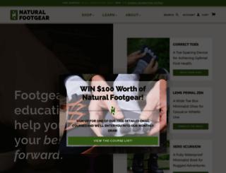 naturalfootgear.com screenshot
