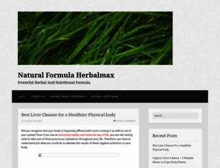 naturalformulaherbalmax.wordpress.com screenshot