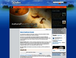 naturalhealthcare.ca screenshot