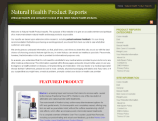 naturalhealthproductreports.com screenshot