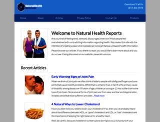 naturalhealthreports.net screenshot