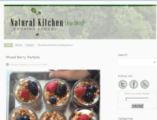 naturalkitchenschoolblog.com screenshot