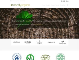 naturallyorganix.com screenshot