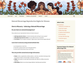 naturalmiscarriage.org screenshot