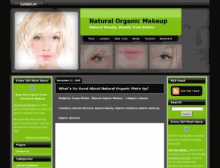 naturalorganicmakeup.com screenshot