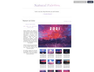 naturalpalettes.tumblr.com screenshot