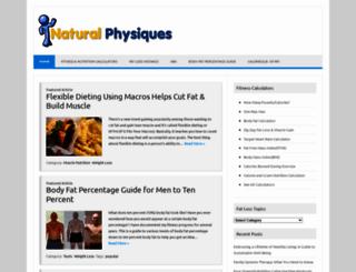naturalphysiques.com screenshot