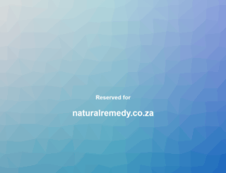 naturalremedy.co.za screenshot