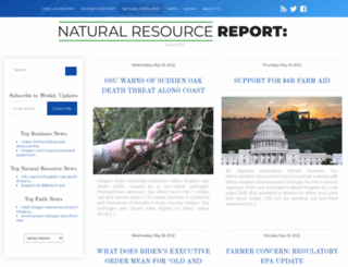 naturalresourcereport.com screenshot