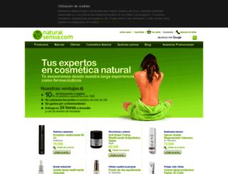 naturalsensia.com screenshot