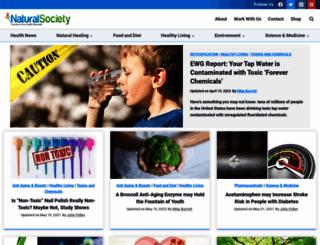 naturalsociety.com screenshot