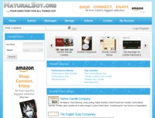 naturalsoy.org screenshot