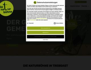 naturbuehne-trebgast.de screenshot