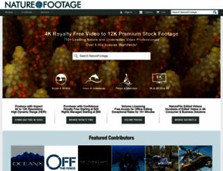 naturefootage.com screenshot