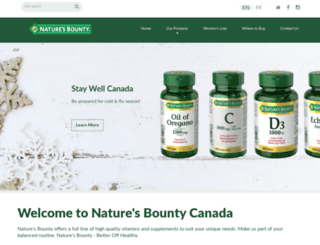 naturesbounty.ca screenshot