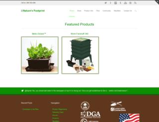 naturesfootprint.com screenshot