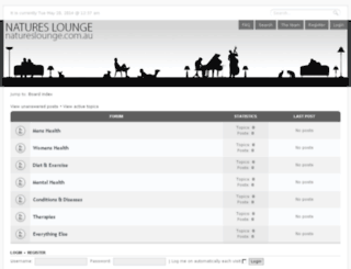 natureslounge.com.au screenshot
