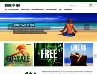 naturesoundspa.com screenshot