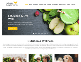 naturessupplements.co.uk screenshot