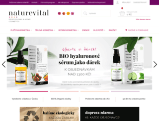 naturevital.cz screenshot