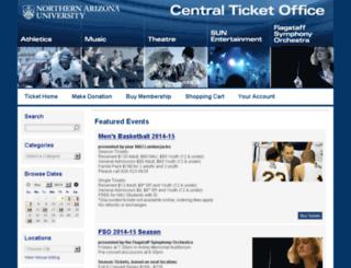 nau.ticketforce.com screenshot