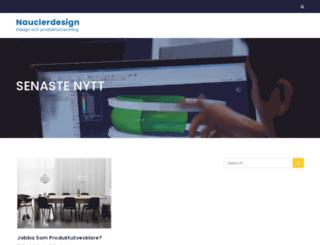 nauclerdesign.se screenshot