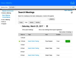 naukri.webex.com screenshot