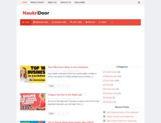 naukridoor.com screenshot