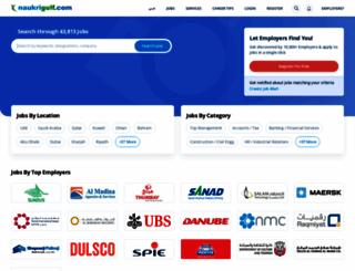 naukrigulf.com screenshot