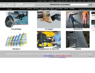 nautic-diffusion.fr screenshot