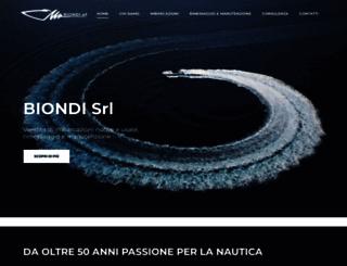 nautica-biondi.it screenshot
