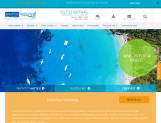 nautilus-yachting.com screenshot