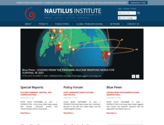 nautilus.org screenshot